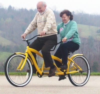 Abuelos on Double Bike