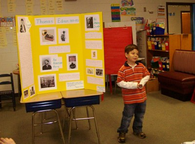 Matthew gives Presentation on Thomas Edison