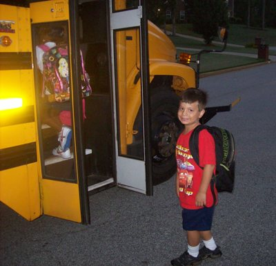 Matthew Off to First Grade