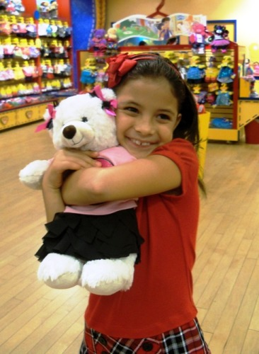 Sophia and her new bear
